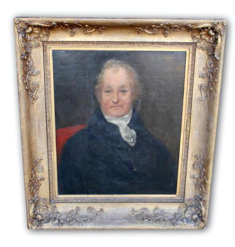 19th Century Portrait of a Gentleman in Large Gilt Frame (1 of 5)