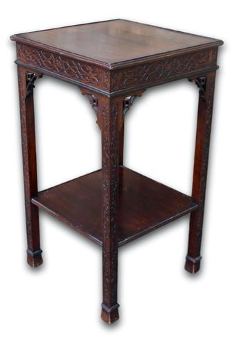 Carved Mahogany Occasional Table / Lamp Table (1 of 4)