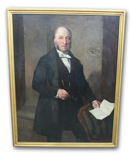 Signed & Dated Full Length Portrait of a Gentleman (1 of 6)