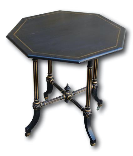 Ebonised Occasional Table in the Manner of Gillows (1 of 6)