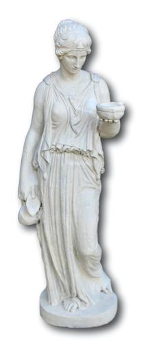 Early 20th Century Stone Statue of Goddess Hebe (1 of 4)