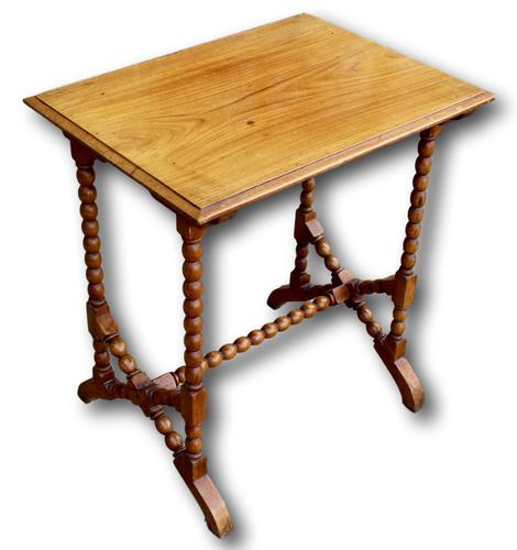 Late Victorian Oak Bobbin Turned Side Table (1 of 4)