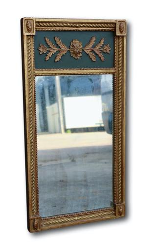Very Attractive Mid 19th Century Green & Gilt Wall Mirror (1 of 4)