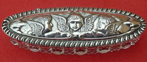 Reynolds Angels Silver Lid with Glass Base from the Boots Pure Drug Company 1908 (1 of 6)