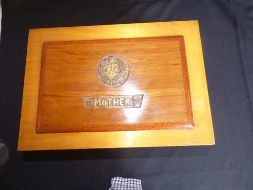 RAF Apprentice Piece Large Jewellery Box with Poker Work Top (1 of 8)