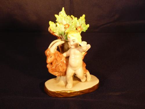 19th Century Samson Porcelain Cherub or Putti Figurine, Gold Anchor Mark (1 of 7)