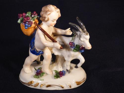 19th Century Samson Porcelain Cherub Putti Figurine No Wings  Gold Anchor Mark (1 of 6)