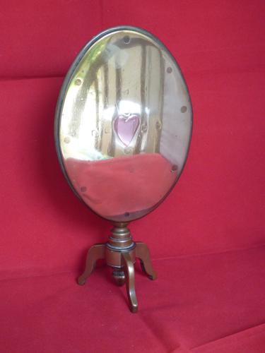 Miniature Oval Brass Tilt Top Table (1 of 5)