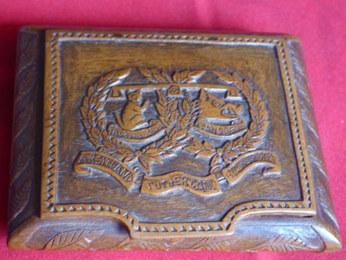 Argyle & Sutherland Highlanders Hand Carved Box (1 of 9)