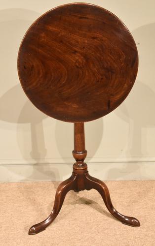George III Mahogany Lamp Wine Table (1 of 4)