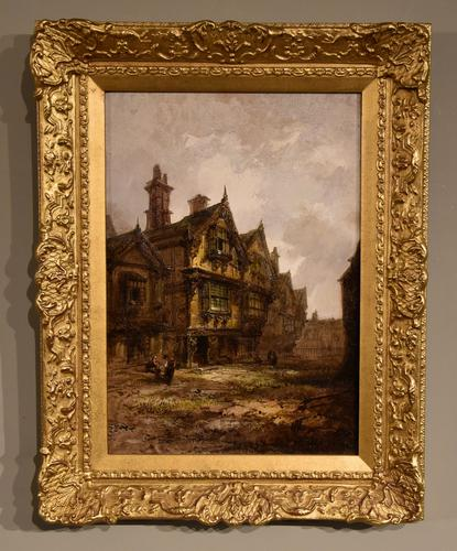 """Oil Painting by Henry Foley """"the Old House"""" (1 of 4)"""