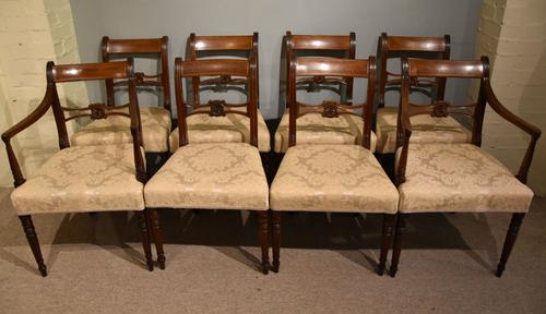 Eight Regency Mahogany Dining Chairs (1 of 8)