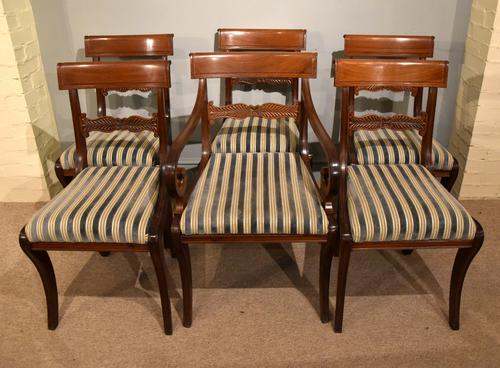 Set of Six Regency Dining Chairs (1 of 9)