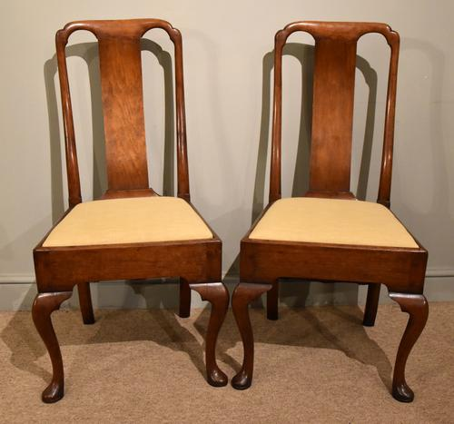 18th Century Walnut Spoon Back Side Chairs (1 of 6)