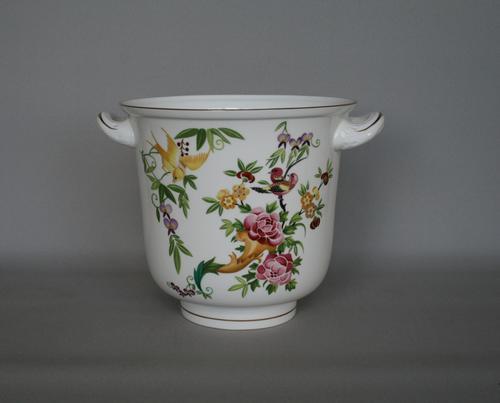 Royal Worcester Jardiniere with the Mandarin Bird Design (1 of 3)