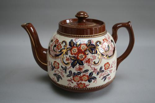 Heavy Brown Pottery Tea Pot (1 of 3)