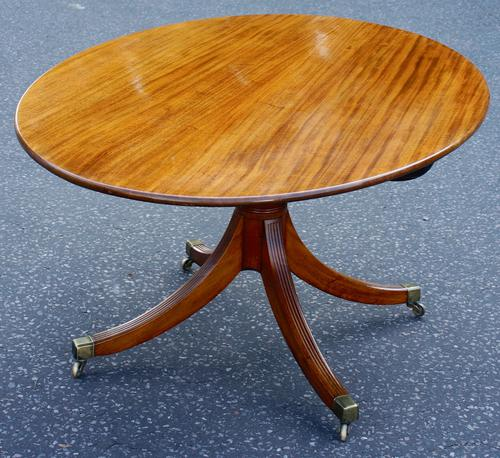 Eight-Seater Georgian 1790s Mahogany Oval Tilt Top Dining Table (1 of 6)