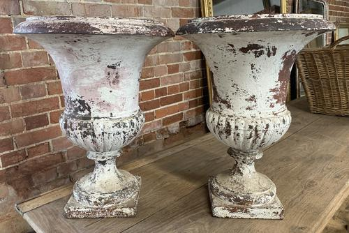 Pair of French Cast Iron Urns (1 of 5)