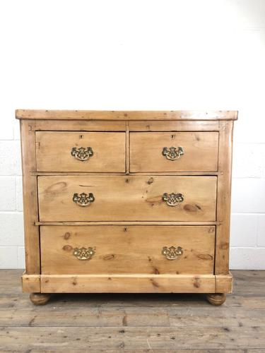 Antique Victorian Pine Chest of Drawers (1 of 10)