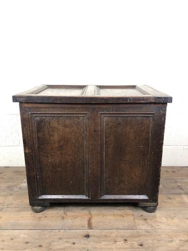 Small Antique 19th Century Two Panel Coffer (1 of 7)