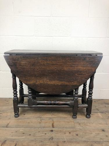 Antique 19th Century Small Oak Gateleg Table (1 of 8)