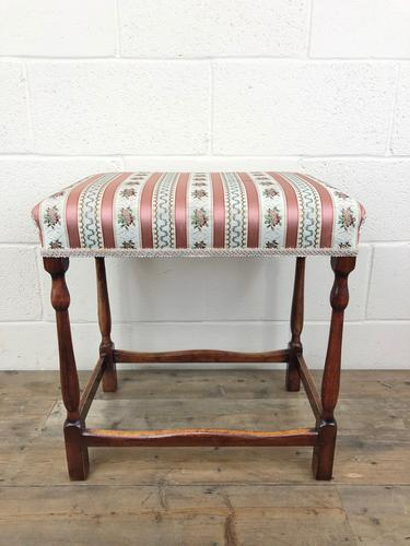 Early 20th Century Stained Beech Stool (1 of 10)