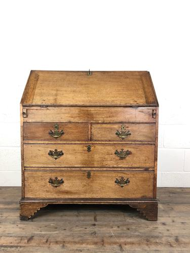 Early 19th Century Pale Oak Bureau (1 of 12)