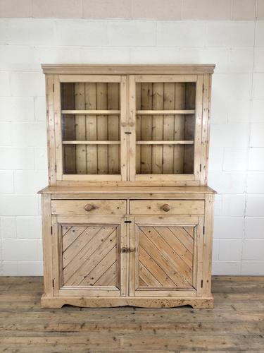 Late 19th Century Antique Pine Dresser with Glazed Top (1 of 8)