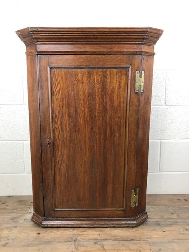 19th Century Antique Oak Corner Cupboard (1 of 6)
