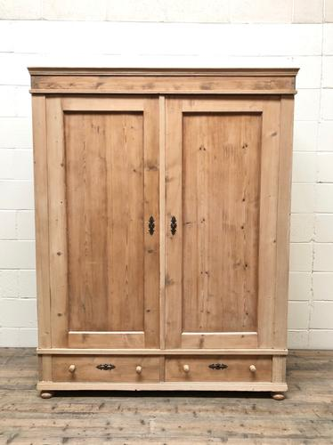 Antique Pine Flat Pack Double Wardrobe (1 of 10)
