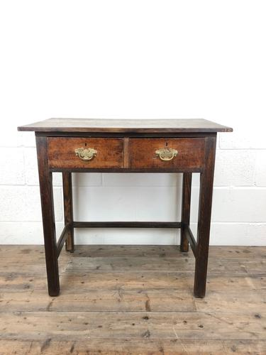 Antique Oak Console Table with Drawers (1 of 8)
