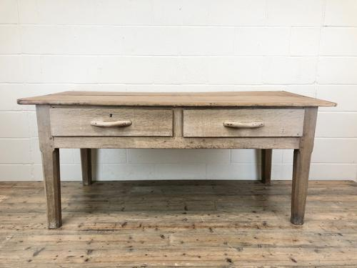 Early 20th Century Antique Oak & Pine Work Table (1 of 15)