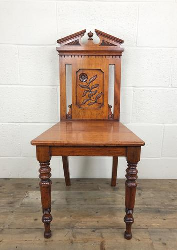 Decorative Antique Victorian Mahogany Hall Chair (1 of 8)