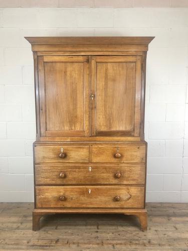 Early 19th Century Welsh Oak Linen Press Cupboard (1 of 13)