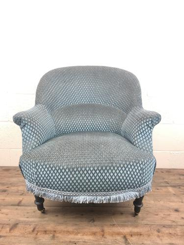 Late Victorian Upholstered Armchair (1 of 10)