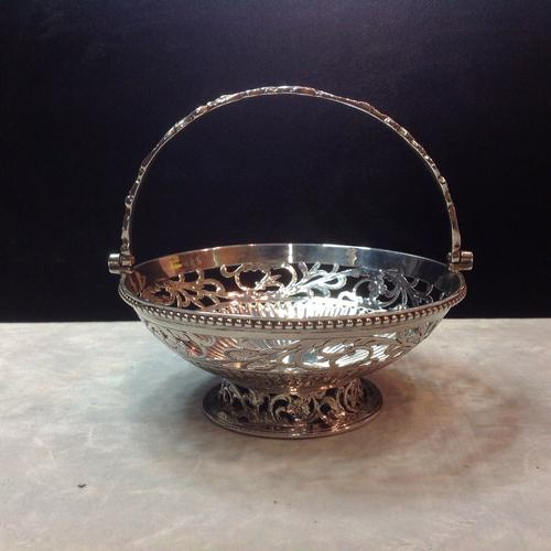 Scottish Edinburgh Silver Victorian Basket with Swing Handle 1848 (1 of 4)