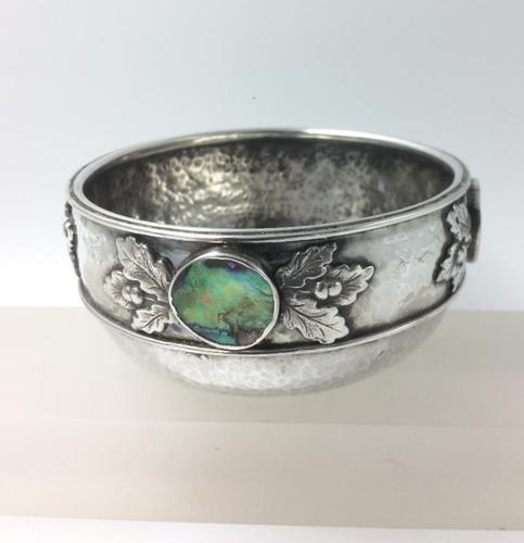 Silver Bowl Amy Sandheim London 1928 Abalone Rondels (1 of 7)
