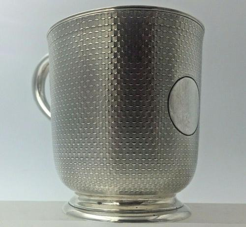 Superb Quality Victorian Silver Christening Mug by Edward Ker Reid London 1866 (1 of 5)