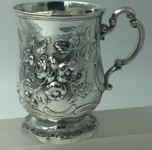 Superb Victorian Silver Christening Mug by James Charles Edington London 1854 (1 of 9)