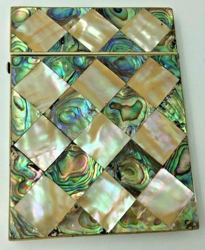 Victorian Abalone & Mother of Pearl Card Case c.1880 (1 of 8)
