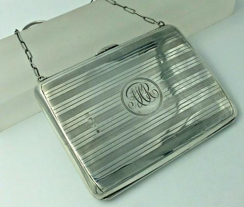 Silver Dance Card Purse with Pencil, Aide Memoire, Stamp & Card Sleeve Birmingham 1912 (1 of 9)