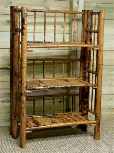 Folding Bamboo Bookshelves - Compact Vintage Bookshelves 1920s (1 of 9)