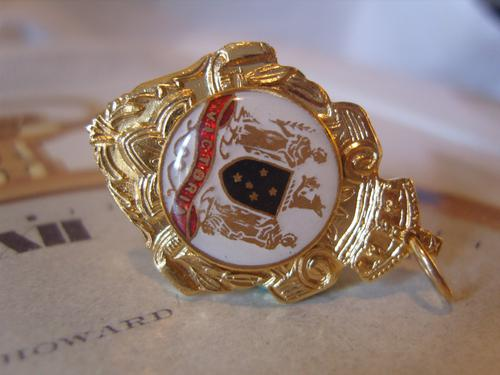 Vintage Pocket Watch Chain Fob 1950s 12ct Gold Plated Victoria Australia Fob (1 of 8)