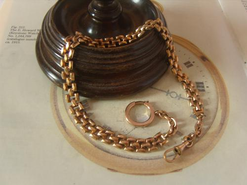 Antique Pocket Watch Chain 1890s Victorian Large 12ct Rose Gold Filled Albert (1 of 12)
