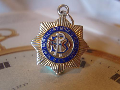 Vintage Silver Freemasons Pocket Watch Chain Fob 1950 Royal Order of Buffaloes (1 of 7)