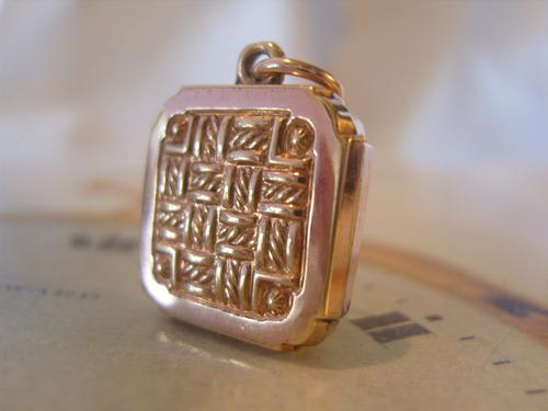 Antique Pocket Watch Chain Fob 1890s Victorian 10ct Rose Gold Filled Fancy Fob (1 of 10)