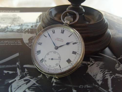 Antique Pocket Watch 1919 Victory Lever Swiss 7 Jewel Silver Nickel Case Fwo (1 of 11)