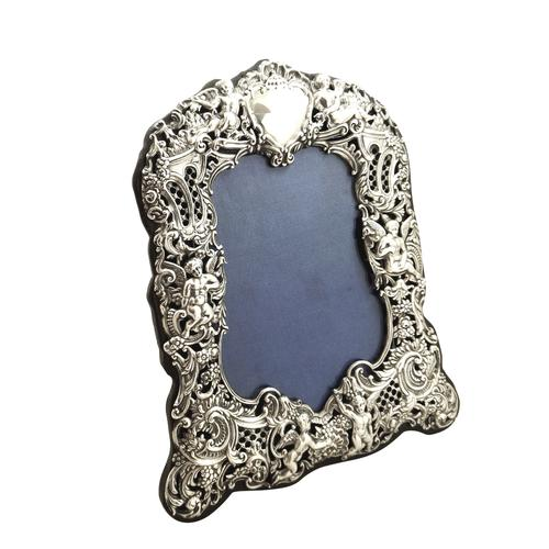 """Antique Victorian Sterling Silver 8 1/2"""" Photo Frame 1894 (1 of 11)"""