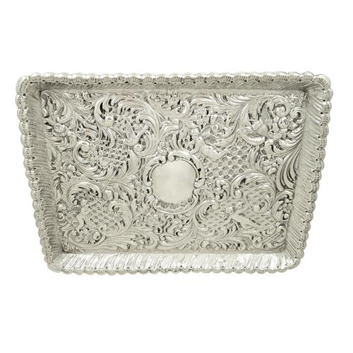 Antique Victorian Sterling Silver Dressing Tray 1900 (1 of 12)