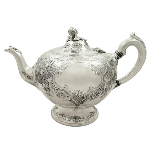Antique Victorian Scottish Sterling Silver Teapot 1862 (1 of 11)
